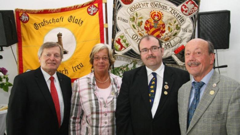 v.r.n.l.: Manfred Spata, Christian Drescher, Friederike Harlfinger und Helmut Sauer