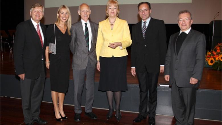 (v.l.): Helmut Sauer (Salzgitter), Dr. Martina Krogmann, Wilhelm von Gottberg, Erika Steinbach MdB, Oliver Dix, Dr. Joachim Giela