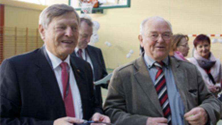 Helmut Sauer mit Bruno Kosak