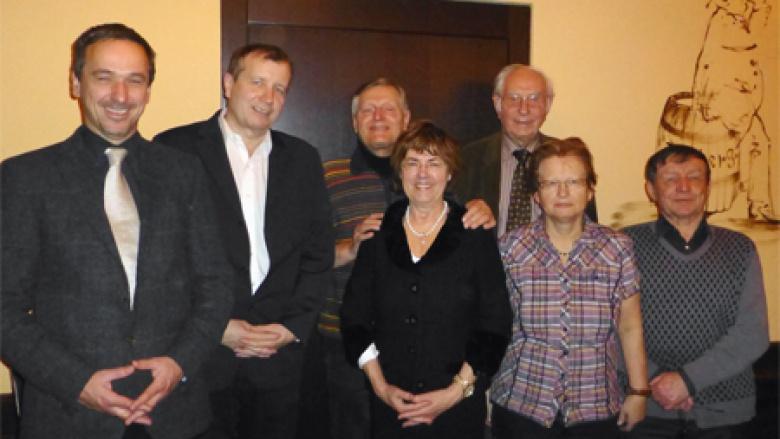 Leiter des Sudetendeutschen Büros in Prag Peter Barton mit Bundesvorstandsmitgliedern sudetendeutscher Herkunft