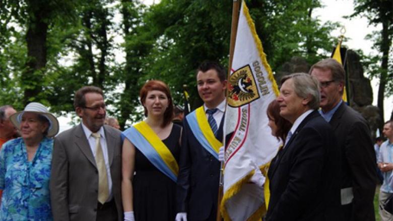 (v.l.n.r.): Renate Zajaczkowska, Klaus Plaszczek, Joanna Hassa, Damian Hutsch, Helmut Sauer (Salzgitter) und Bernhard Brasack.