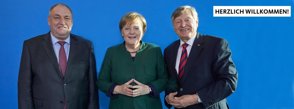 Egon Primas, Dr. Angela Merkel und Helmut Sauer