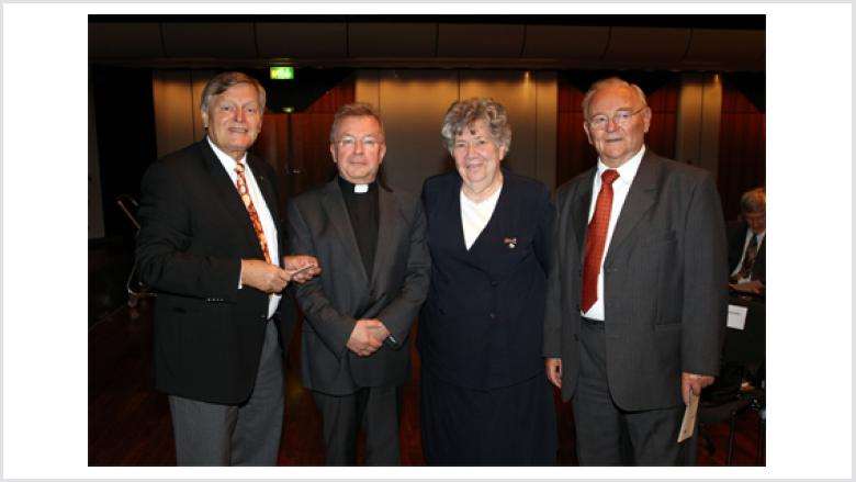 Bruno Kosak, Renate Zajaczkowska, Dr. Joachim Giela (Münster) und Helmut Sauer (Salzgitter)
