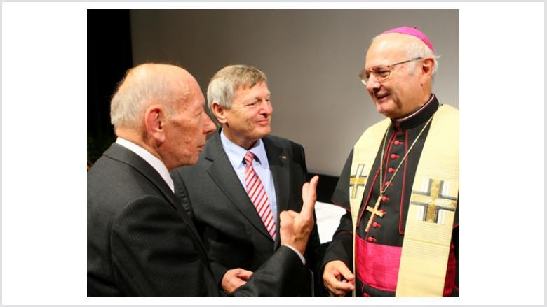 Wolfgang Globisch, Helmut Sauer und Erzbischof Dr. Robert Zollitsch