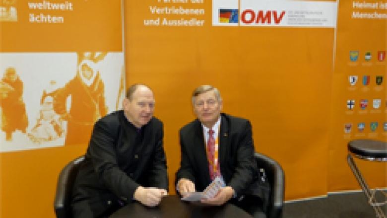 Vorsitzender der Gruppe der Vertriebenen, Aussiedler und deutschen Minderheiten der CDU/CSU Bundestagsfraktion Klaus Brähmig MdB mit Helmut Sauer