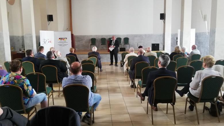 Redebeitrag Egon Primas im Pilgerheim