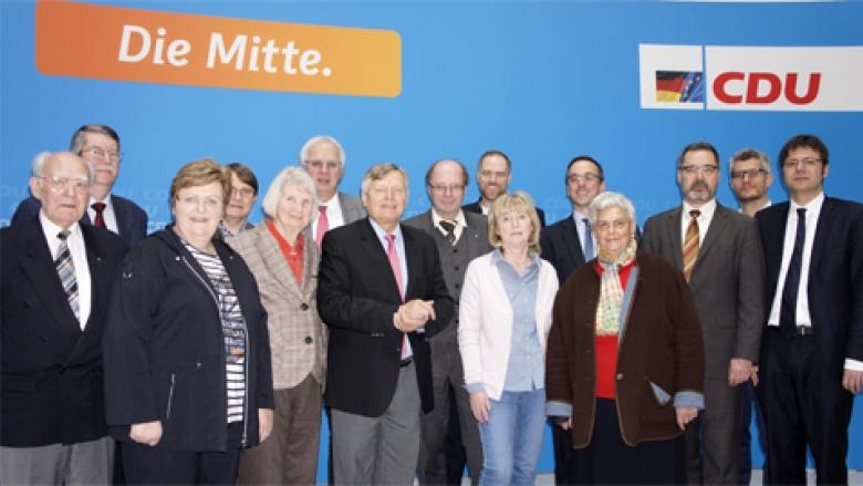 (v.l.n.r.)  Greifenhain, Hansel, Ripsam, Prof. Dr. Pietsch, Malla, Schuck, Sauer (Salzgitter), Scheer, Krüger, Osterburg, Zalder, Kahnert, Engemann, Dr. Baur und Krüger