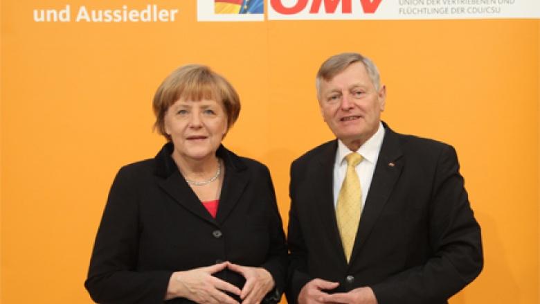Dr. Angela Merkel und Helmut Sauer (Salzgitter)