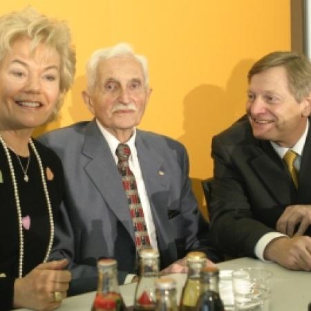 Bundesvorsitzender Helmut Sauer im Gepräch