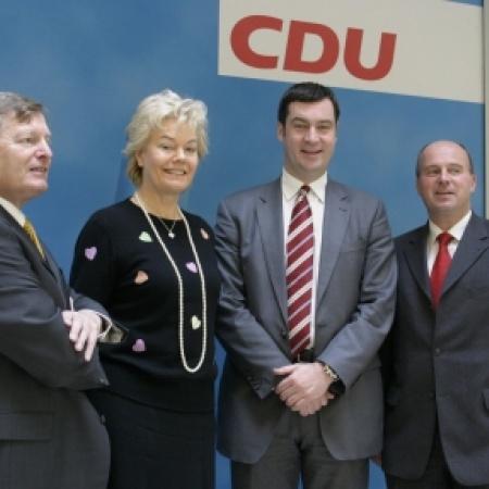 Helmut Sauer, Erika Steinbach, Dr. Markus Söder, Hartmut Koschyk
