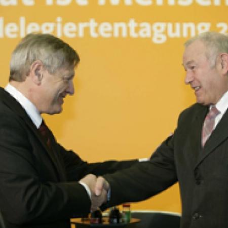 Begrüßung des Bayerischen Ministerpräsidenten