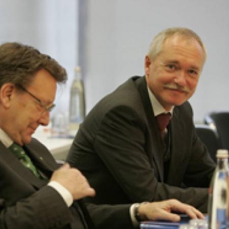 Manfred von Richthofen und Dr. Klaus Schüler