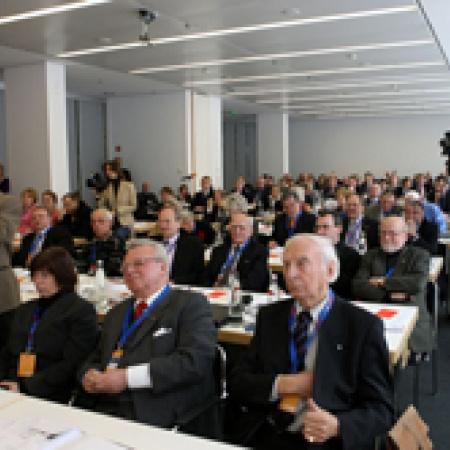 Die Delegierten und Gäste verfolgten aufmerksam die Rede des Generalsekretärs