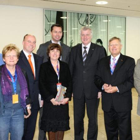 Delegierte aus Bayern mit Horst Seehofer und Helmut Sauer