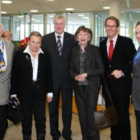 Delegierte aus Baden-Württemberg mit  Horst Seehofer