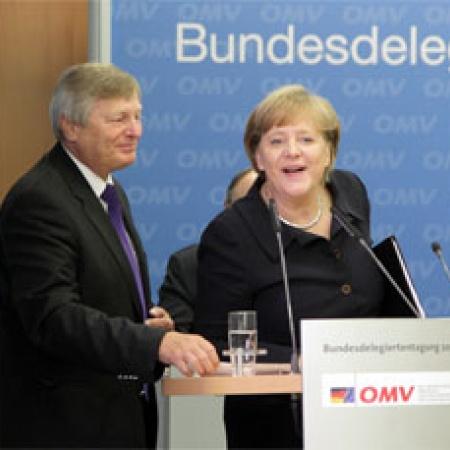 Helmut Sauer und Angela Merkel