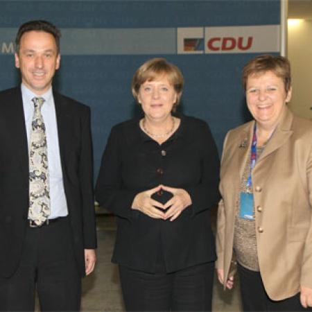 Christoph Zalder, Dr. Angela Merkel und Iris Ripsam
