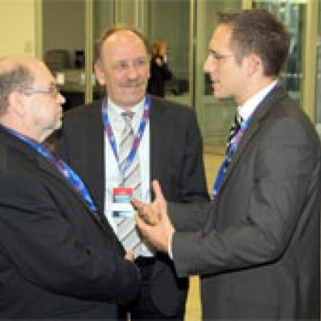 Delegierte im Gespräch
