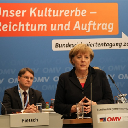 Bundeskanzlerin Dr. Angela Merkel bei ihrer Rede