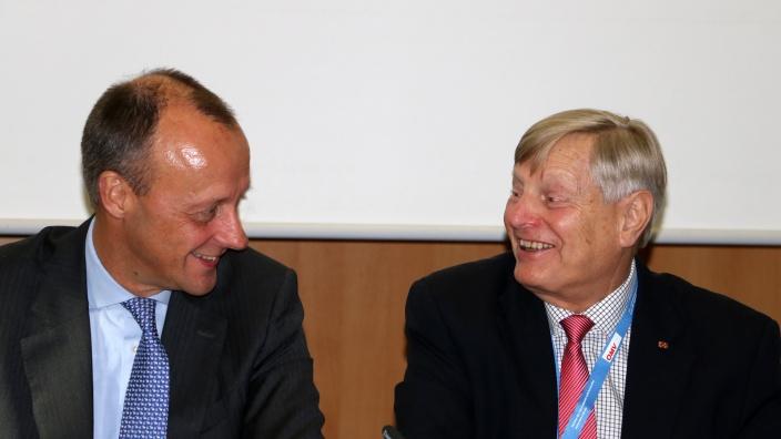 Friedrich Merz mit Helmut Sauer