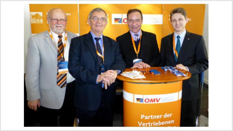 OMV Landesvorstandsmitglieder (v.l.n.r.) Peter Winkler (Hildesheim), Gerhart Wehner (Hannover), Oliver Dix (Braunschweig) und Paul Derabin (Laatzen)