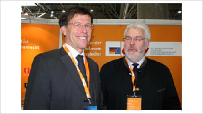 Landtagspräsident Dr. Matthias Rößler MdL mit Volker Schimpff